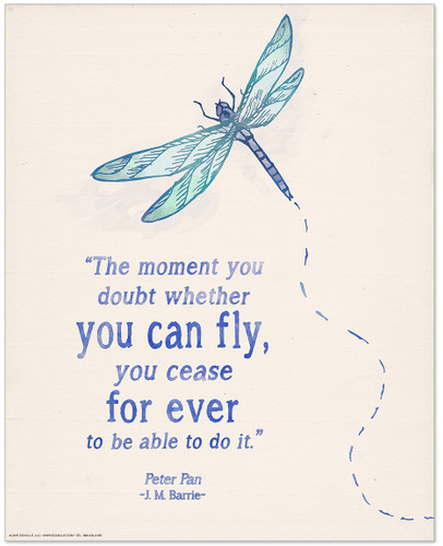 You Can Fly Children's Literature Inspirational Quote Poster