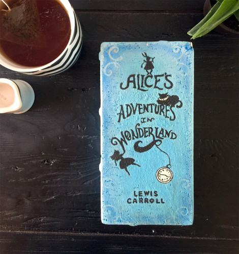 Alice's Adventures in Wonderland - Lewis Carroll Exclusive Artisan Hand-Painted Garden Bricks or Book End