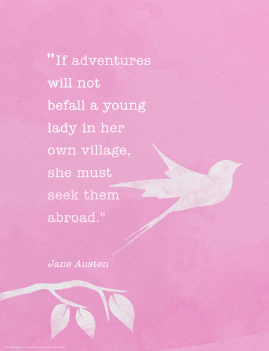 Jane Austen Minimalist Quote Fine Art Print.