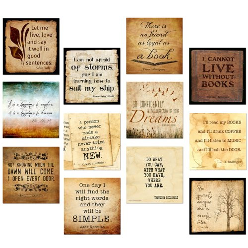 Classic Quotes Motivational Poster Set. Eco-friendly Set Featuring Inspiring Quotes.