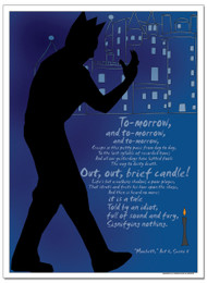 Brief Candle, Macbeth Literary Poster