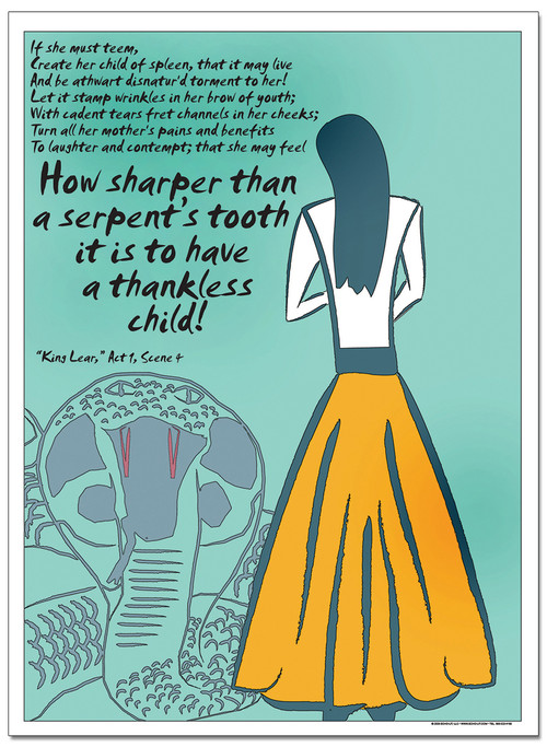 serpent u0026 39 s tooth - famous shakespeare quote poster