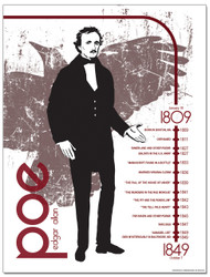 Edgar Allan Poe Literary Timeline Poster