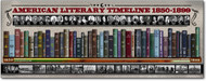 American Literary Timelines 1850-1899 Poster