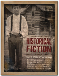 Historical Fiction Literary Poster