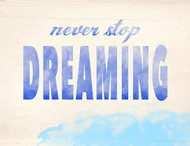 Never Stop Dreaming Inspirational Poster