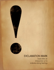 Exclamation Mark Grammar, Punctuation and Writing Poster