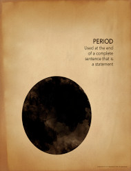 Period Grammar, Punctuation and Writing Poster