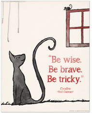 Be Brave Children's Literature Inspirational Quote Poster