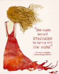 She Made Herself Stronger, Secret Garden Children's Literature Inspirational Quote Poster