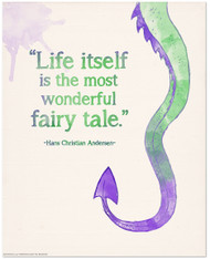 Wonderful Fairy Tale Children's Literature Inspirational Quote Poster