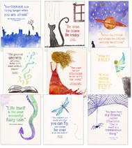 Beloved Children's Literature Inspirational Quote Poster Set