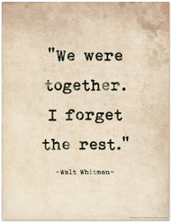 Romantic Quote Poster - Walt Whitman Literary Print for Home or School