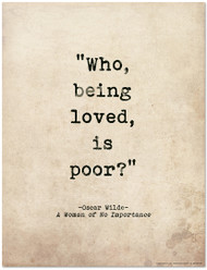 Romantic Quote Poster - A Woman of No Importance by Oscar Wilde Literary Print for Home or School