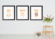 Tea Quote Posters - Typographic Art Prints Featuring Barrie, Lewis and Dostoyevsky