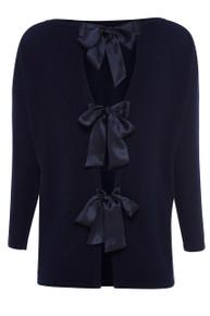 Silk Tie Sweater