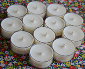 Soy Tealights (one dozen unscented)