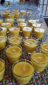 Favors for Shower or Party, soy candle glass flowerpots (by the dozen, scented)