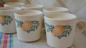 Corningware vintage cups, set of 6, peach scent