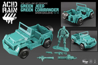 Comic Con 2015 Exclusive - Acid Rain Green Jeep + Green Sol Commander