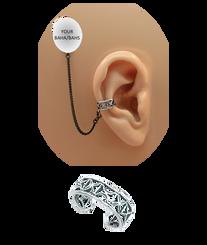 """Xs"" Ear Cuff - Oxidized Sterling Silver"