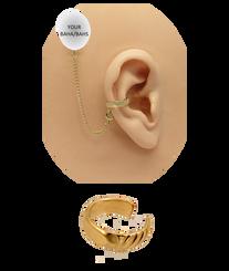"""""""Twist"""" Ear Cuff - Gold Fill"""
