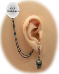 Black Skull Drop Earring - Halloween Edition