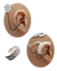 """Dragon Scale"" Ear Cuff - Sterling Silver"