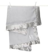 """""""Little Giraffe"""" Luxe Blanket- Silver"""