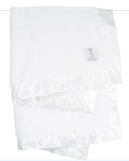 'Little Giraffe' Chenille Blanket- White
