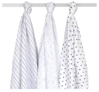 'Just Born' Boy 3-Pack Muslin Swaddle Blankets