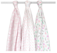 'Just Born' Girl 3-Pack Muslin Swaddle Blankets