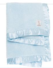 'Little Giraffe' Chenille Blanket- Blue