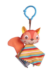 'Tiny Love' Clip on Toy, Crinkly Squirrel