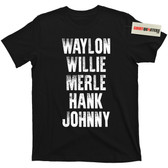 Waylon WIllie Merle Hank and Johnny T Shirt