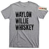 Waylon Jennings  and Willie Nelson Whiskey T Shirt