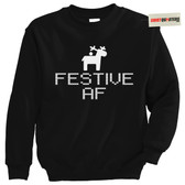 Festive AF Bitchy Naughty Tacky Gothic Christmas Sweater Sweatshirt