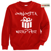 Gangsta Gangster Wrapper Christmas Tacky Sweater Sweatshirt