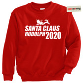 Santa Claus Rudolph the Red Nosed Reindeer Tacky Sweatshirt