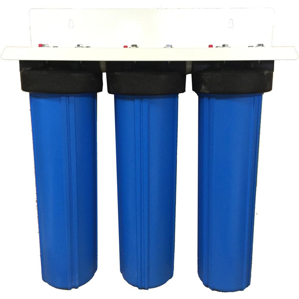 20-inch Three Canister Big Blue CUSTOM Filter System