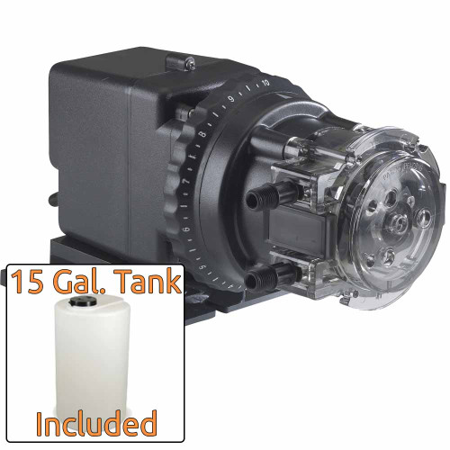 Stenner Injection Pump 85MHP17 & 15 Gal. Solution Tank