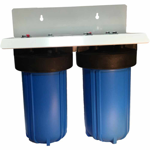 10-inch 2 Stage Big Blue Filter System with Carbon & Activated Alumina Filters