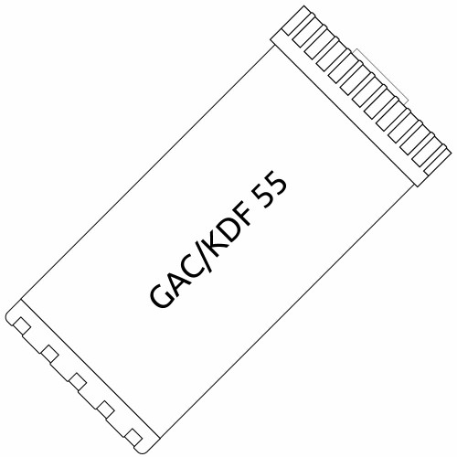 Big Blue 10-inch GAC/KDF 55 Filter