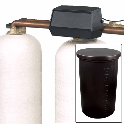 300k Commercial High Flow Dual Tank Water Softener with Alternating Fleck 9500 On-Demand