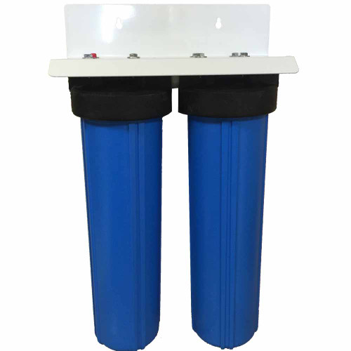 20-inch 2 Stage Big Blue Phosphate & Radial Flow Carbon Filter for Scale Prevention & Sediment, Chemical, Taste, and Odor Removal