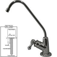 PURETECK Euro Style Airgap Long Reach RO Faucet - Chrome