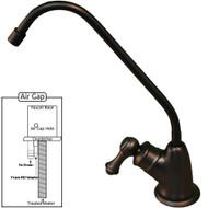 PURETECK Euro Style Airgap Long Reach RO Faucet - Oil Rubbed Bronze