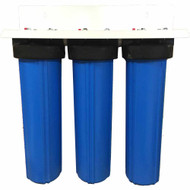 20-inch 3 Stage Big Blue Whole House Filter for Iron, Hydrogen Sulfide, Low pH and Acidic Water