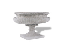 Ribbed Oval Urn
