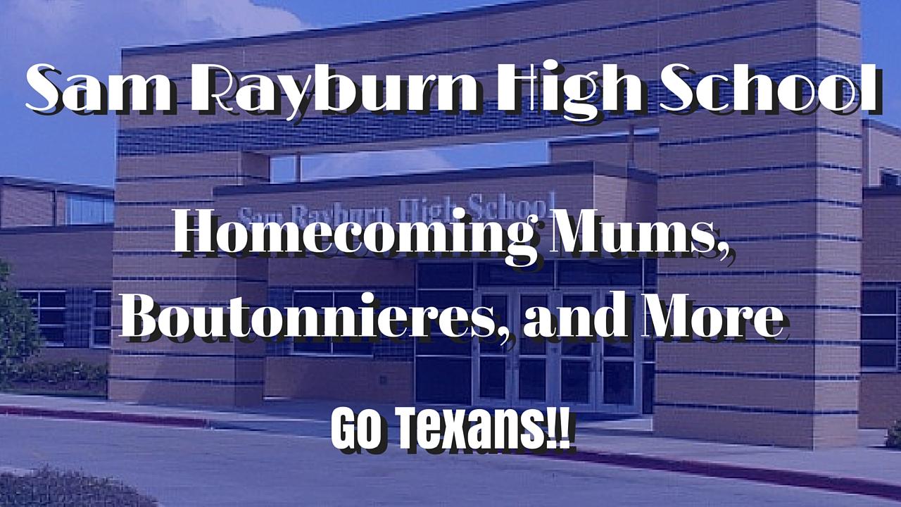 Sam Rayburn High School Homecoming Mums